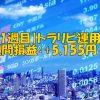 【8月1週目 週次報告】FXトラリピ運用実績(+5,155円)
