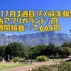 【11月3週目】南アフリカランド/円のFX収支報告(+7,665円)